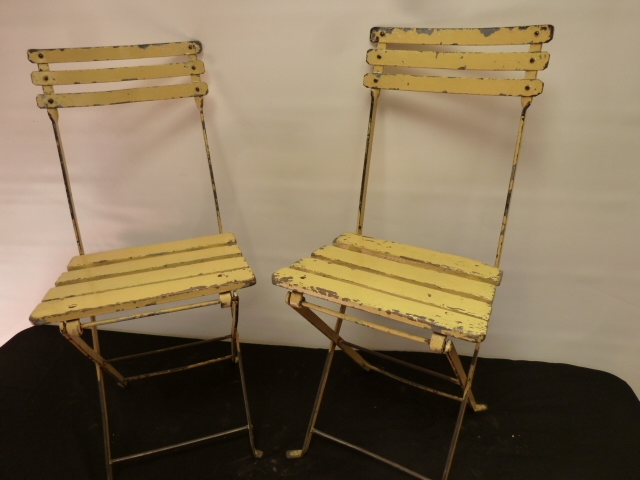 Pair of Vintage French Cafe Chairs