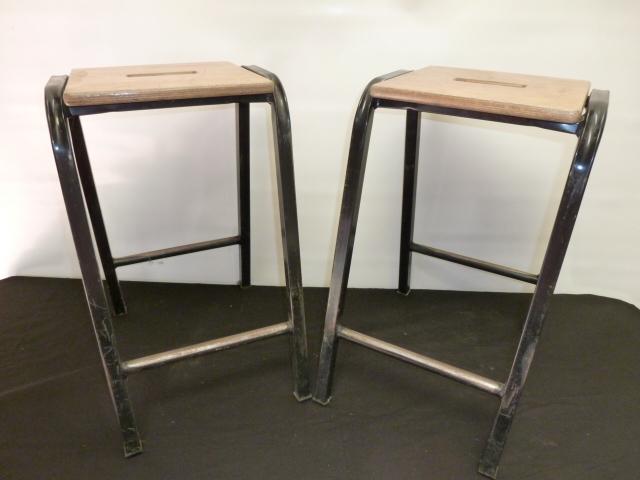 Pair of Vintage School Lab Stools